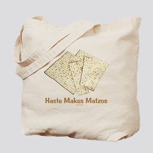 Haste Makes Matzoh Passover Tote Bag