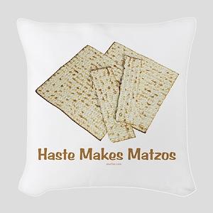 Haste Makes Matzoh Passover Woven Throw Pillow