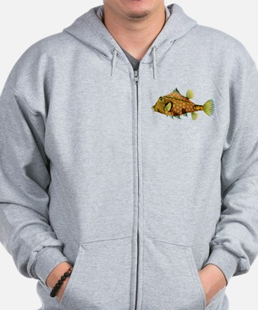 Orange and Blue Cowfish Zip Hoodie