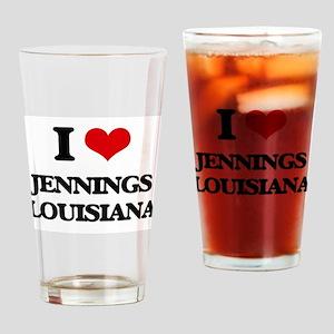 I love Jennings Louisiana Drinking Glass