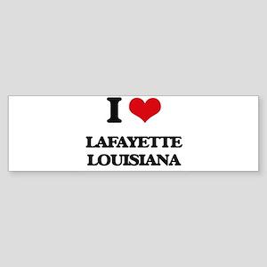I love Lafayette Louisiana Bumper Sticker