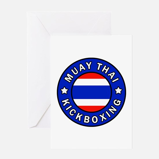 Muay Thai Greeting Cards