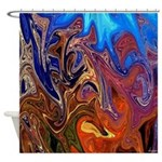 Native American Tribal Lands Shower Curtain
