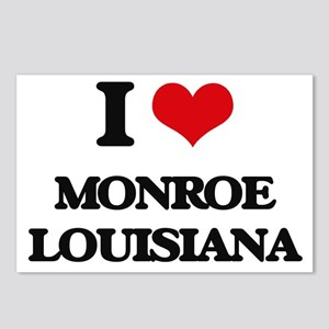 I love Monroe Louisiana Postcards (Package of 8)