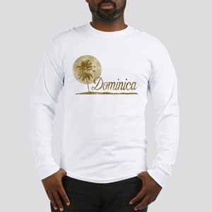 Palm Tree Dominica Long Sleeve T-Shirt