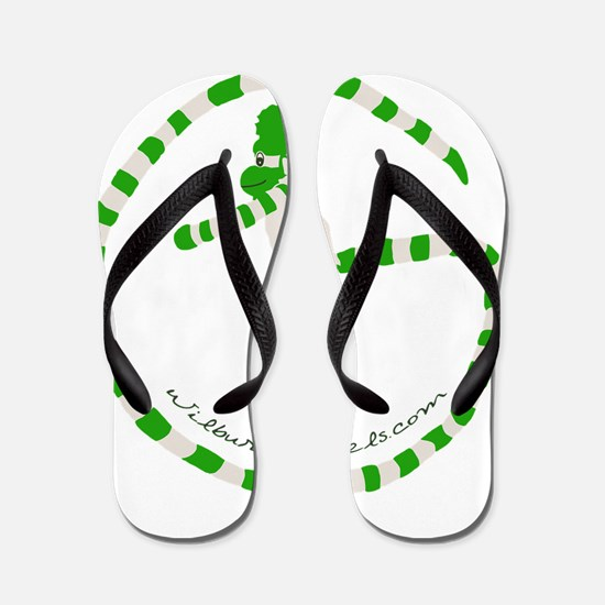 Wilbury Travels Geocaching Logo Flip Flops