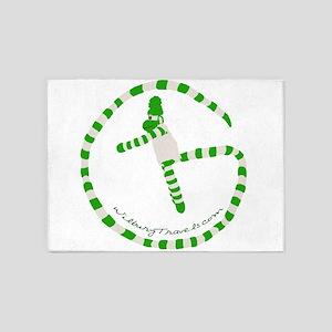 Wilbury Travels Geocaching Logo 5'x7'Area Rug