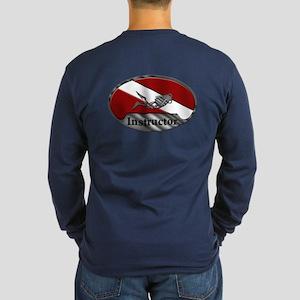 Dive Instructor (Oval) Long Sleeve Dark T-Shirt
