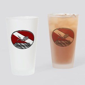 Dive Instructor (Oval) Drinking Glass