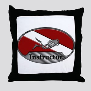 Dive Instructor (Oval) Throw Pillow