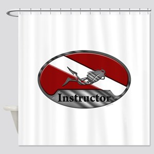 Dive Instructor (Oval) Shower Curtain