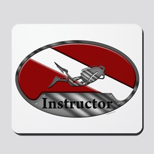 Dive Instructor (Oval) Mousepad