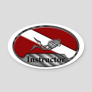 Dive Instructor (Oval) Oval Car Magnet