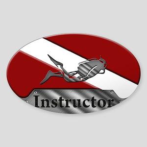 Dive Instructor (Oval) Sticker (Oval)