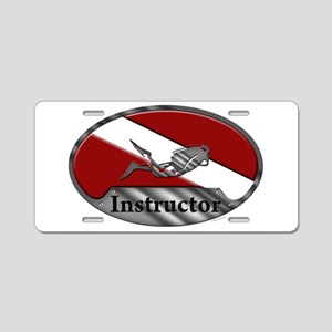 Dive Instructor (Oval) Aluminum License Plate