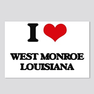 I love West Monroe Louisi Postcards (Package of 8)
