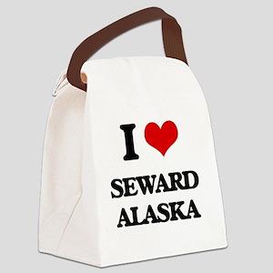 I love Seward Alaska Canvas Lunch Bag