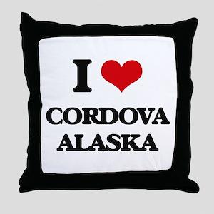 I love Cordova Alaska Throw Pillow