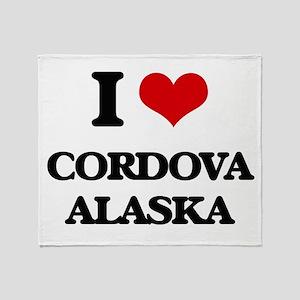 I love Cordova Alaska Throw Blanket