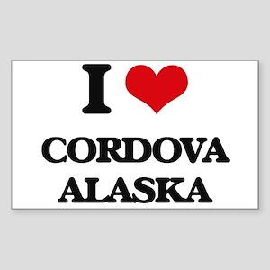 I love Cordova Alaska Sticker