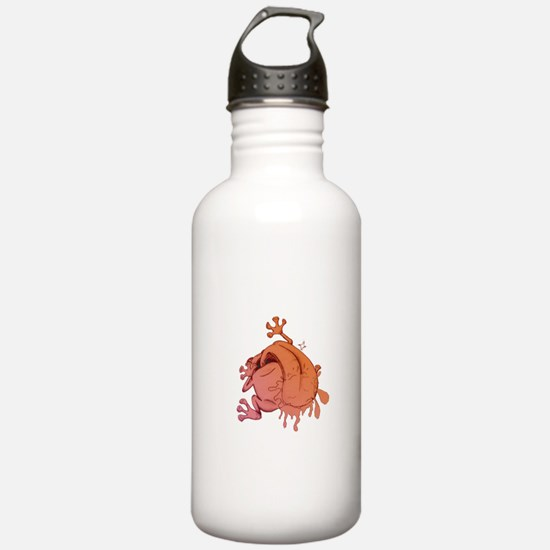 Orange/Pink Frog Water Bottle