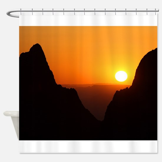Sunset at the Window Shower Curtain
