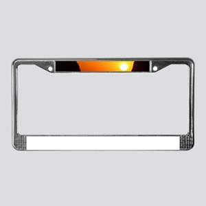 Sunset at the Window License Plate Frame
