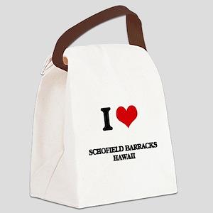 I love Schofield Barracks Hawaii Canvas Lunch Bag