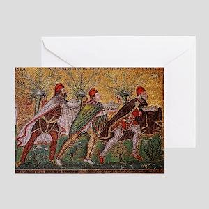 The Three Magi - A Byzantine mosaic Greeting Card