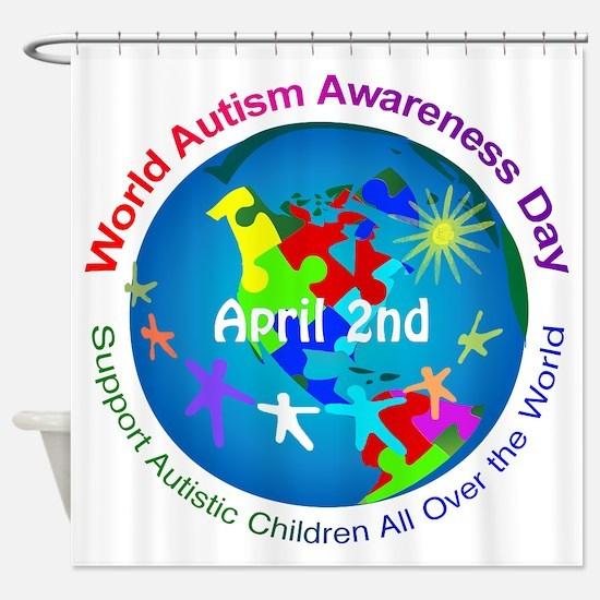 World Autism Awareness Day Shower Curtain