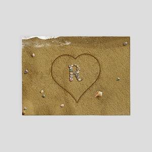 R Beach Love 5'x7'Area Rug