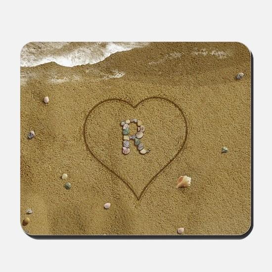 R Beach Love Mousepad