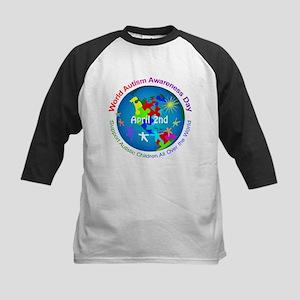 World Autism Awareness Day Kids Baseball Tee