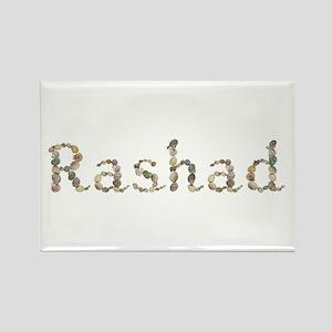 Rashad Seashells Rectangle Magnet
