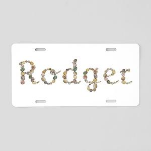 Rodger Seashells Aluminum License Plate