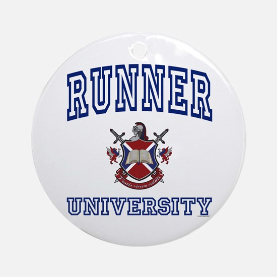RUNNER University Ornament (Round)