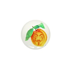 V Peach Mini Button (100 pack)