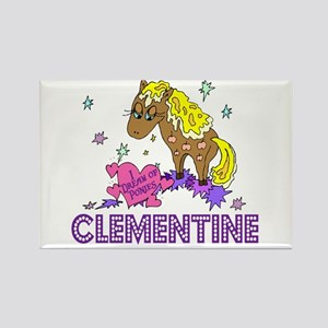 I Dream Of Ponies Clementine Rectangle Magnet