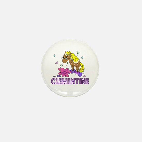 I Dream Of Ponies Clementine Mini Button