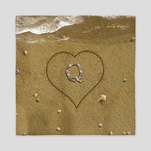 Q Beach Love Queen Duvet