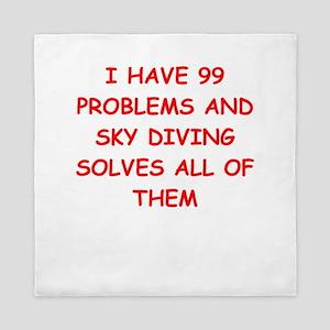 sky diving Queen Duvet