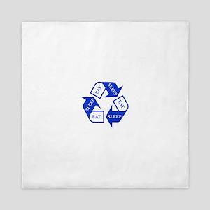 Eat Sleep Recycle Queen Duvet