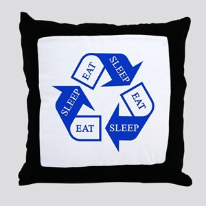 Eat Sleep Recycle Throw Pillow