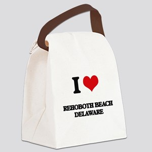 I love Rehoboth Beach Delaware Canvas Lunch Bag