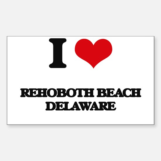 I love Rehoboth Beach Delaware Decal