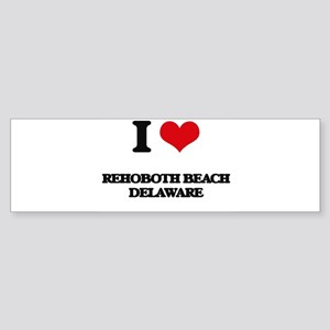 I love Rehoboth Beach Delaware Bumper Sticker