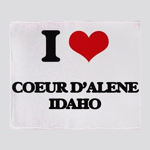 I love Coeur D'Alene Idaho Throw Blanket