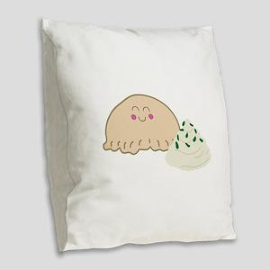 Polish Pierogi Burlap Throw Pillow