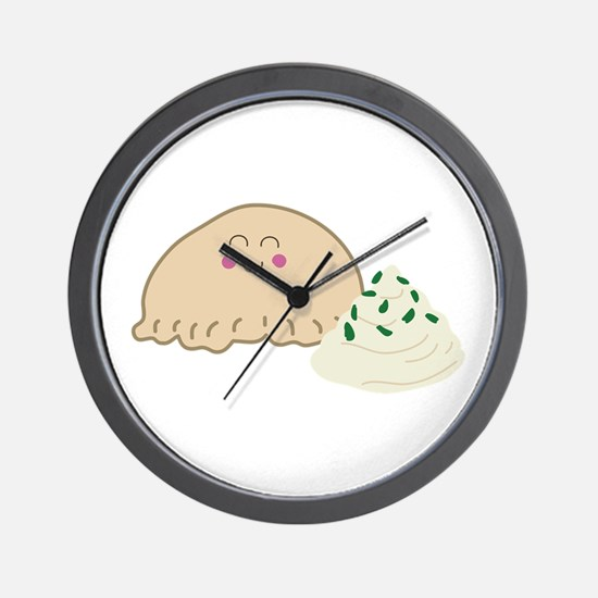 Polish Pierogi Wall Clock