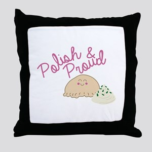 Proud Pierogi Throw Pillow